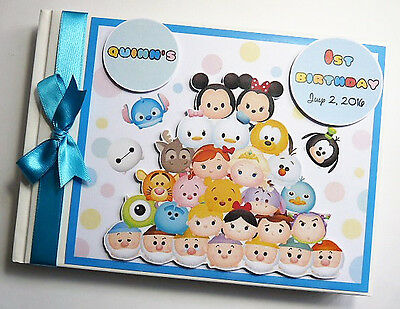 Personalised Tsum Tsum First/1St Birthday Guest Book Any Design