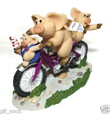 PIGGIN ON YER BIKE Brand New Boxed Collectable Pig Figure 14337