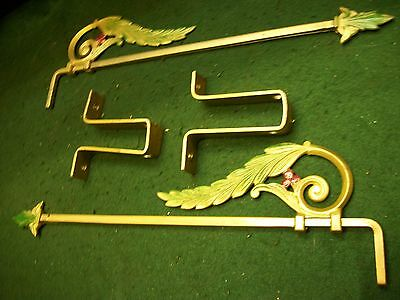 Antique-Old-Vintage-Cast Iron Swing A Way- Extending Drapery/curtain Rods-1 Set