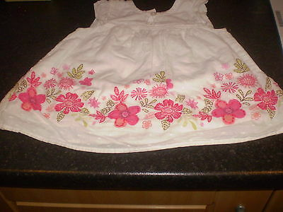 Matalan white dress Size 12-18 mths