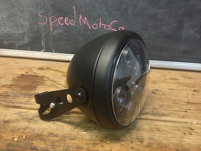 """LED headlight 7"""" with bracket 27mm-39mm Motorcycle All Metal cb250 cb350 cm400"""