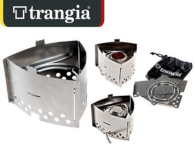 Trangia® T3 Triangle Compact Hiking Folding Stove Stainless Made In Sweden