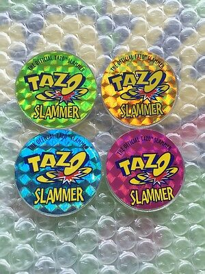 Looney Tunes Official Tazo Slammers Set Of 4 1996 Tazos Green Album Set