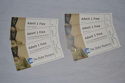 6 Tickets The State Museum of Pennsylvania Harrisburg PA Retail $42