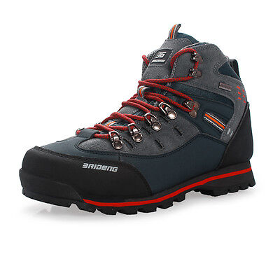 GOMNEAR mens waterproof trail hiking boots wearable non slip climb outdoor shoes