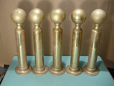 Five Vintage Forged Solid Brass stanchion LAWRENCE METAL Architectural Repurpose