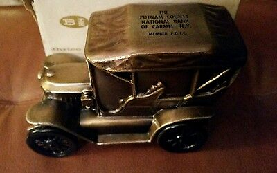 Vintage NIB Banthrico STANLEY STEAMER AUTO Coin Bank NEVER USED