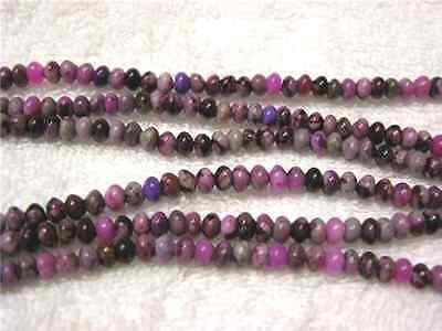 Sugilite beads 6x4mm rondelle style 15 inch strand 95 plus beads for stringing