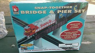 Life-Like Trains Snap Together HO Scale Bridge & Pier Set 8214 Sealed in Box New