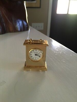 Vintage Small jeweler Bailey Banks & Biddle CARRIAGE CLOCK *watch