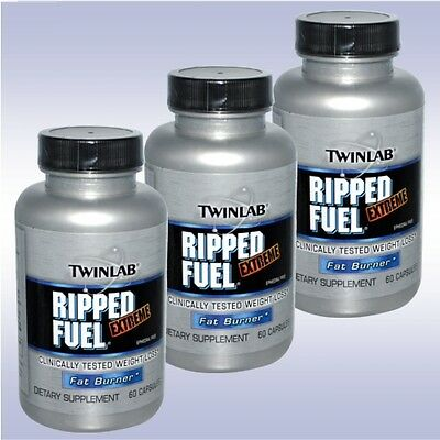 TWINLAB RIPPED FUEL EXTREME (3-PACK: 60 CAPSULES EACH) twin lab fat burner diet