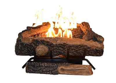 Oakwood Fireplace Natural Gas Vent Free Logs 24 in. Manual Control Heating Flame