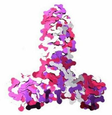 Confetti Penis Pink Silver Red Hens Night Party  Willy Bachelorette Decoration