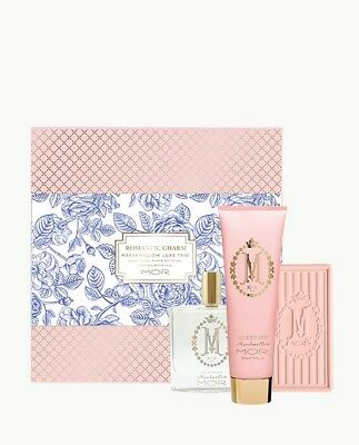 NEW MOR Romantic Charm Gift Pack Mashmallow Trio with Marshmallow Perfume 100ml