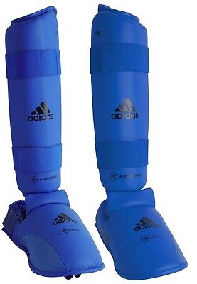 Adidas WKF Approved Shin and Instep With Heel Protection - Red or Blue