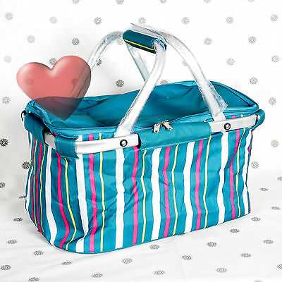 NEW Tupperware Oceanic Dream Design Collapsible Picnic Insulated Basket