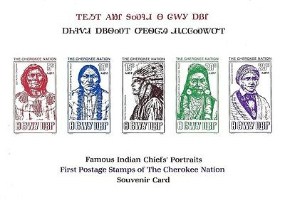 The Cherokee Nation - 1st issue Chiefs souvenir proof card ex Jim Czyl