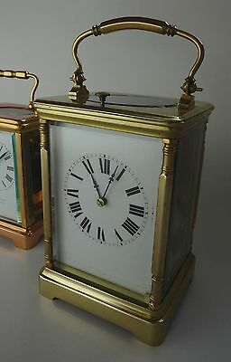 Coulliet Repeater Carriage Clock, 19th C. silvered platform, A1 - serviced.
