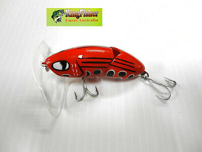 Kingfisher Mantis 88mm articulated surface lure ;14 Red Frog NEW