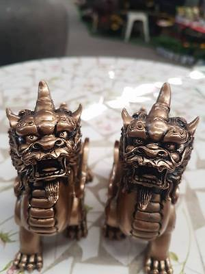 Foo Dogs Fortune Ornament Bonsai Decor Luck