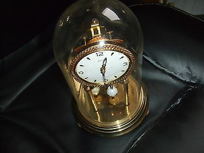 Kundo Kieninger & Obergfell West German Anniversary Glass Domed Clock
