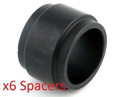 6 Black 25mm x 25mm Alloy Wheel Spacers Prokart Cadet UK KART STORE