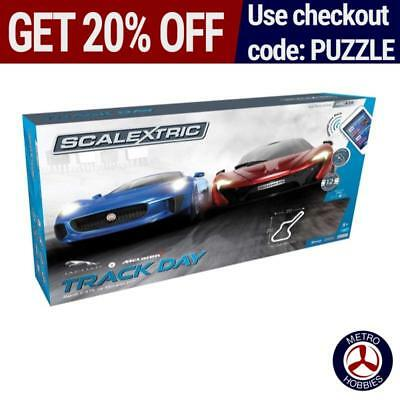 Scalextric Track Day Slot Car Set SCA-C1358 Brand New
