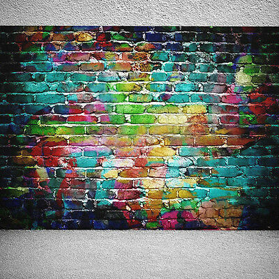 5x7FT Colorful Brick Wall Photography Backdrop Background Photo Studio Props NEW