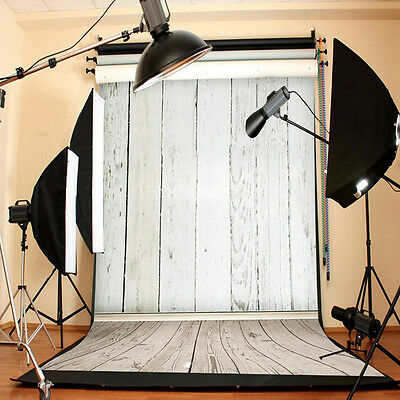 NEW White Wood Wall Floor Studio Photo Photography Background Backdrop 3X5FT