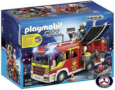 Playmobil Fire Engine with Lights and Sound 5363 Brand New