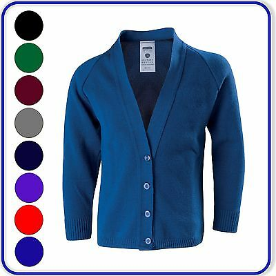 """New Good Quality Womens Girls Childs Adults School Knitted Cardigans 24""""- 38"""""""