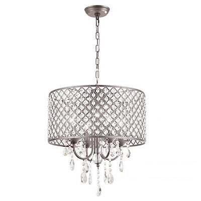 40cm Contemporary Crystal Pendant Light Ceiling Lamp Chandelier Lighting WS