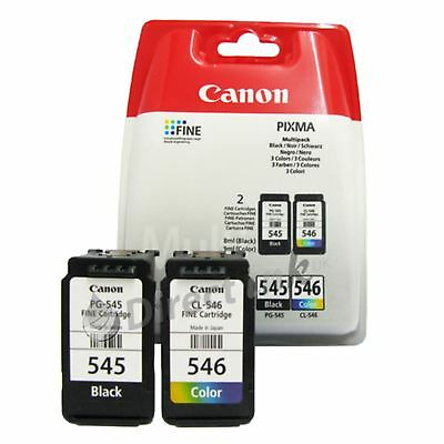 ORIGINALE Canon PG-545 CL-546 NERO E COLORE PER PIXMA MG2950