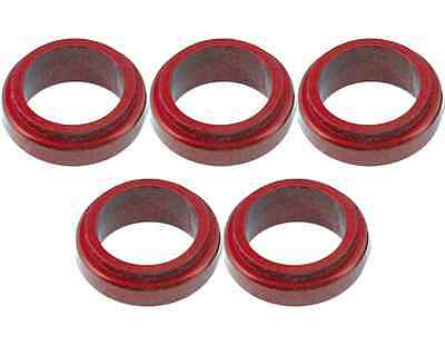 5 Red 17mm x 10mm Alloy Wheel Spacers Prokart Cadet  UK KART STORE