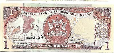 Central Bank of Trinidad and Tobago x One Dollar Uncirculated Banknote
