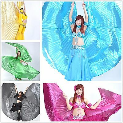Belly Dance Isis Wings Angel Wings Adult with Bag Sticks 9 colors Wings of Isis
