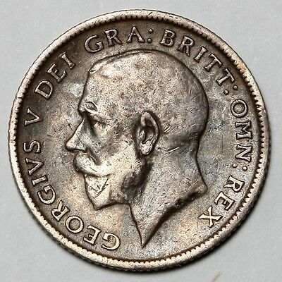 1912 King George V Great Britain Silver Sixpence Six Pence 6D Coin