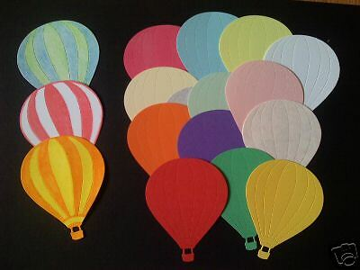 10 Hot Air Balloons die cuts/toppers