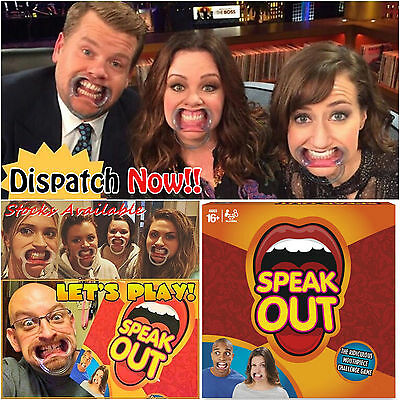 2016 Hot GIFT Speakout Board Game Party Mouthguard Mouthipiece Family Fun - Xmas