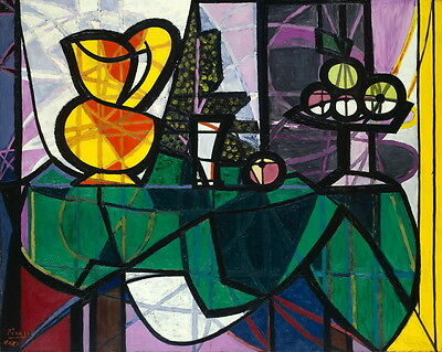 Pablo Picasso Fruit Dish Giclee Canvas Print Paintings Poster Reproduction Copy