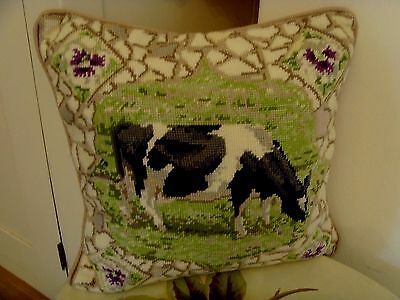 Ehrman Completed Needlepoint Tapestry Cushion PANSY THE COW Kaffe Fassett Design