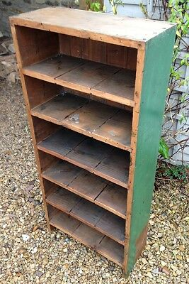 ~Antique Industrial Painted Rustic Pine Bookcase / Shelves~ Can Deliver