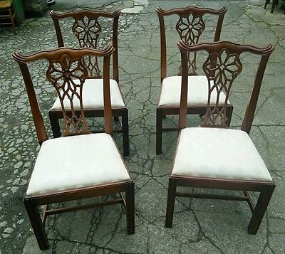 Set Of Four Hepplewhite Style Flame Mahagony Dining Chairs Great Condition