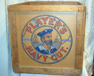 Large Vintage Players Navy Cut Tobacco Wooden Shipping Chest Dated Oct ' 1931