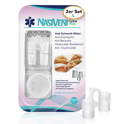 Nasivent Tube Plus - 2er Pack - Gr. L/12mm - Anti Schnarch Mittel (Neues Model)