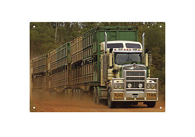 KENWORTH T904 ROAD TRAIN TIN SIGN 20 X 30 cm. KENWORTH ROAD TRAIN TIN SIGN