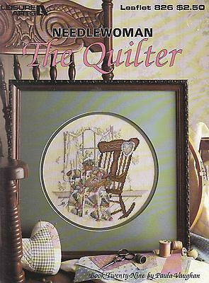 Paula Vaughan No 29, Needlewoman -The Quilter, Leisure Arts Cross stitch Book