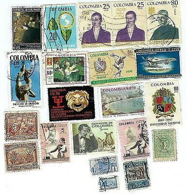 Colombia Lovely Selection Of 20 Old And Modern Stamps