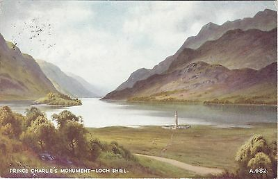 Artist Drawn, Prince Charlie's Monument, GLENFINNAN, Inverness-shire - Thompson