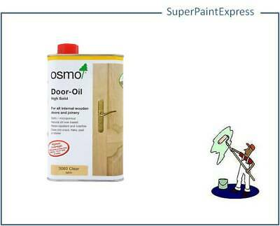 Osmo Door Oil High Solid 3060 Clear Satin 1L